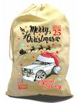 X-Large Cotton Drawcord Koolart Christmas Santa Sack Stocking Gift Bag & Mk2 Escort RS Mexico Image